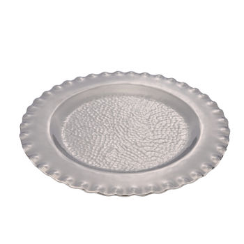Silver Decorative Charger Plate