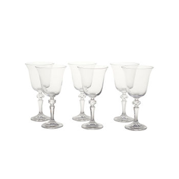 Set of 6: Clear Falco Red Wine Glass