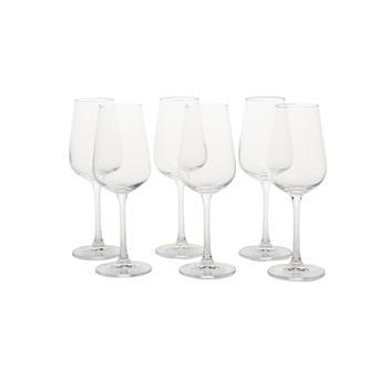 Set of 6: Clear Strix White Wine Glass