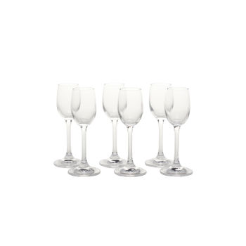 Set of 6: Clear Sylvia Liquor Glass