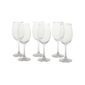 Set of 6: Clear Sylvia White Wine Glass