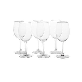 Set of 6: Clear Sylvia Red Wine Glass