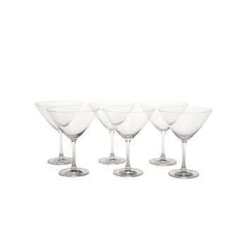 set of 6: Clear Sylvia Martini Glass