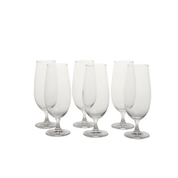 Set of 6: Clear Sylvia Beer Glass
