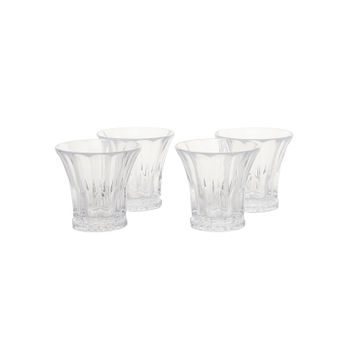 Set of 4: Clear Wellington Whiskey Glass