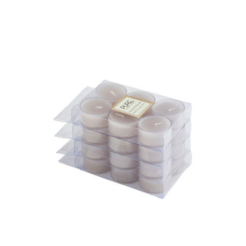 Set of 4 Grey Lavender and Chamomile Tealight Candles