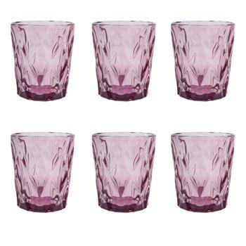 Set of 6: Purple Elegant Glass Tumbler
