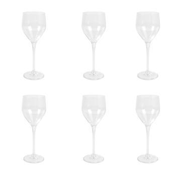 Set of 6: Clear Sitta White Wine Glass