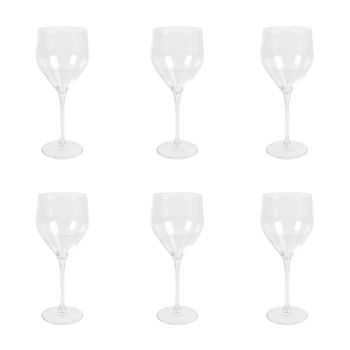 Set of 6: Clear Sitta Red Wine Glass