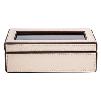 3 Box Cream Brown Watch Organizer