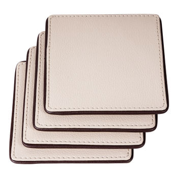 Set of 4: Cream  Brown Coasters