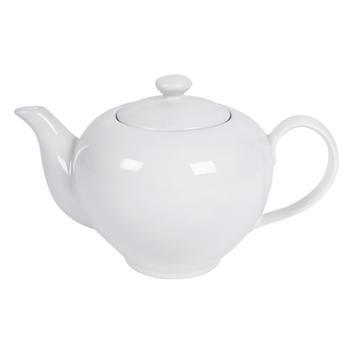 Cream Coupe Tea Pot with Lid