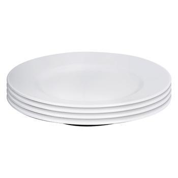 Set of 4: Cream Classic Dinner Plate