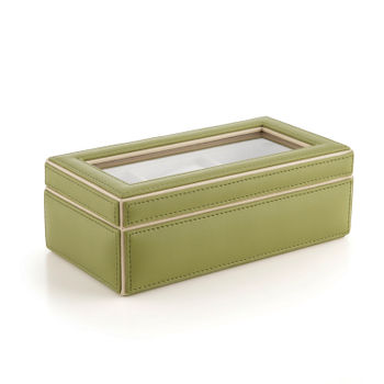 3-part Green and Cream Watch Box