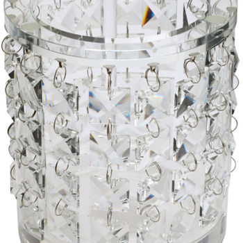 Hanging Crystal Pillar Candle Holder