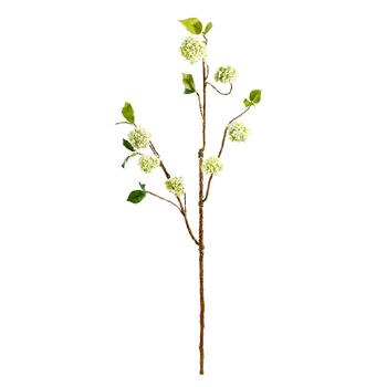 Set Of 2: White Hydrangea Stem