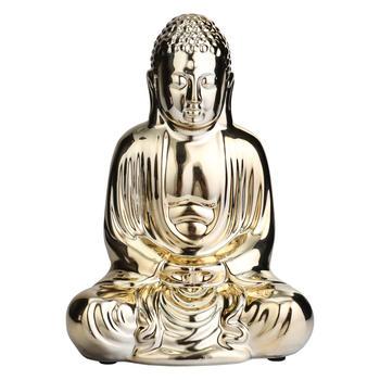 Small Golden Seated Buddha Figurine