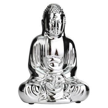 Small Silver Seated Buddha Figurine