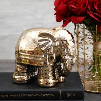 Golden Elephant Decorative Figurine
