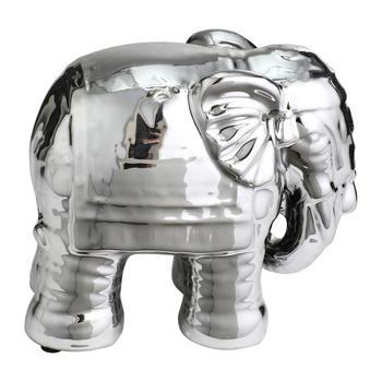 Silver Elephant Decorative Figurine
