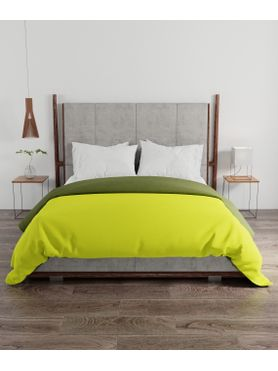 Stellar Home Enya Collection - Lime Green & Olive Green Reversible Queen Size Comforter (Polyester)