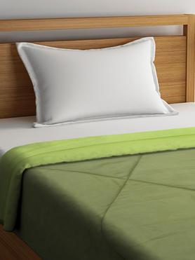 Stellar Home Enya Collection - Lush Green Printed Reversible Single Size Comforter (Polyester)