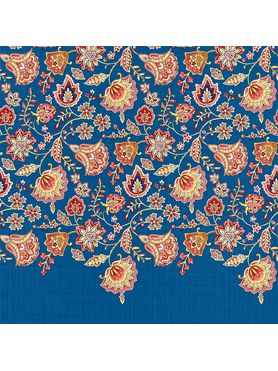 Stellar Home Lilly Collection - Stunning Floral Deep Blue Print Bedsheet With 2 Pillow Covers (100% Cotton, Queen Size)