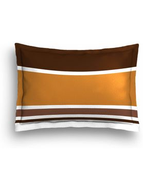 Stellar Home Iris Collection - Intricate Brown Chakra Print Bedsheet With 2 Pillow Covers (100% Cotton, Queen Size)
