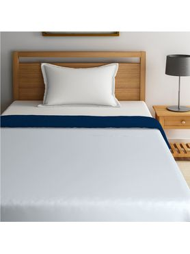 Stellar Home Blockbuster Collection - True Navy & Grey Dawn Single Size Comforter (Super Soft Micro)
