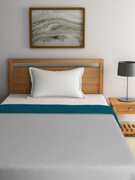 Stellar Home Blockbuster Collection - Ocean Blue & Metal Reversible Single Size Comforter (Super Soft Micro)