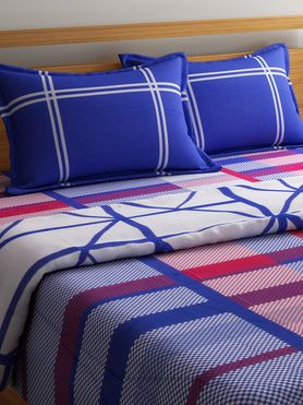 Stellar Home Lily Collection - Multicolor Geometric Print Queen Size Comforter