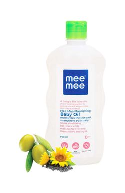 Mee Mee Baby Oil with Fruit Extracts- 500 ml & Mee Mee Soft Baby Lotion - 500ml