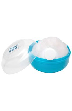 Mee Mee Premium Powder Puff with Powder Storage (Blue)