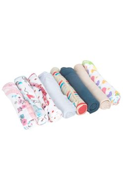 Mee Mee Baby Mini Napkins (Assorted, 8 Pcs)