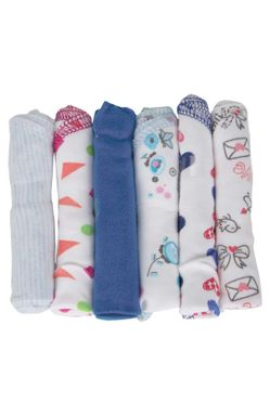 Mee Mee Baby Mini Napkins (Assorted) Set of 12