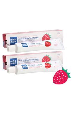 Mee Mee Fluoride-Free Strawberry Flavor Toothpaste 70g (Pack of 2)