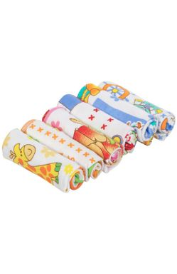 Mee Mee Baby Mini Napkins (Assorted, 6 Pieces)