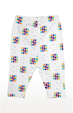 Mee Mee Full Length Unisex White Printed Leggings (White_Multi)