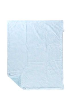 Mee Mee Double Layered Soft Baby Blanket with Embossed Printing, Blue