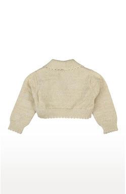 Mee Mee Full Sleeve Girls Sweater Shrug (Gold)