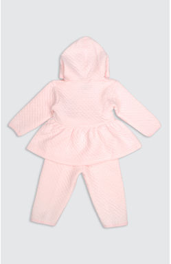 Mee Mee Full Sleeve Girls Polyfill Frock With Full Legging Set (Pink)