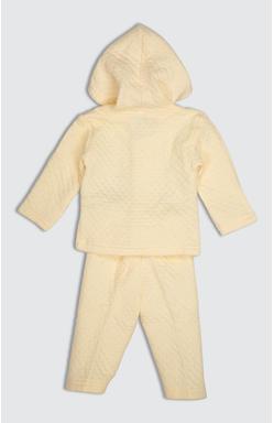 Mee Mee Unisex Polyfill Full Sleeve Hooded Top & Legging Set (Yellow)
