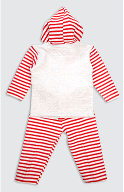 Mee Mee Unisex Polyfill Full Sleeve Hooded Top & Legging Set (Red)