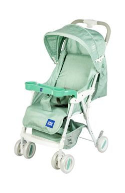 Mee Mee Compact Folding Baby Pram with Multiple Seating Position (Green)