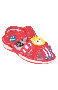 Mee Mee First Walk Baby Sandel with Chu Chu Sound (Red)