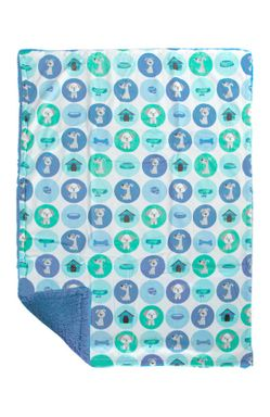 Mee Mee Multipurpose Soft Baby Blanket (Blue with Multicolor- Ball Print)
