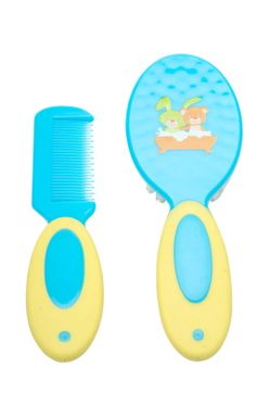 Mee Mee Soft Grip Brush & Comb Set (Green)