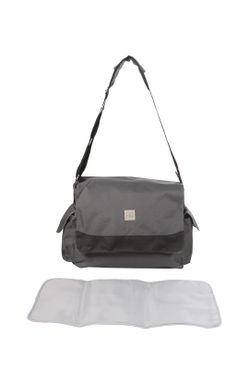Mee Mee Multipurpose Diaper Bag with Bottle Warmer and Changing Mat, Dark Gray