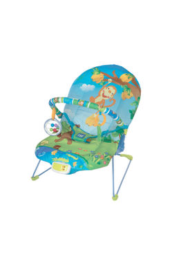 Mee Mee Vibrating and Soothing Baby Bouncer with Music and 2 Position Cushioned Seating (Light Green)