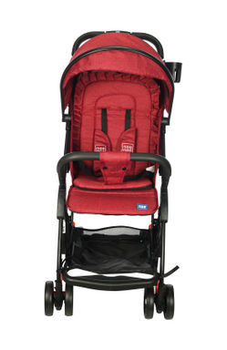Mee Mee Premium Portable Baby Stroller Pram with Compact Tri-Folding (Red)